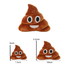 Cushion Emoji Pillow Cute Shits Poop Stuffed Toy Poo Plush Bolster Cojines Pillow Smiley Emotion Soft Almofadas Travel Pillow(China)