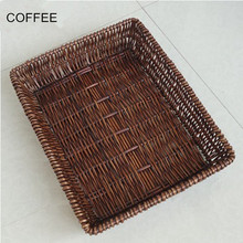 Rattan Bread Basket Display Willow Tray Storage Basket Knitted()
