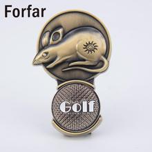 Forfar China Chinese Zodiac Rat Outdoor Magnetic Golf Ball Marker Hat Clip Gift(China)