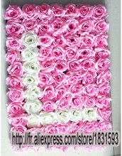 LOVE 4pcs/lot Artificial silk rose flower wall wedding background or lawn/pillar flower home market decoration TONGFENG(China)