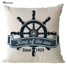 new Sea Solider Blue Helm Cushions Cover Anchor Boat ocean Marine Linen Throw PillowsCase Home Decorative Pillowcase