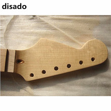 disado 21 22 Frets maple Reverse headstock Left hand Electric Guitar Neck Guitar Parts musical instruments can be customized