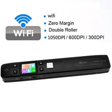 Iscan Wireless Wifi Portable Digital Scanner 1050DPI Handyscan Document Photo Receipts Books Double JPG / PDF Format TF Card 32G