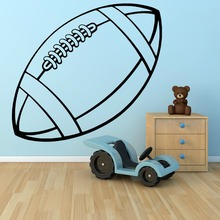 Vinyl Sport Series Wall Sticker Rugby Ball Art Wall Mural Home Decoration Wall Sticker Room Removable Wall Decals Y-863(China)