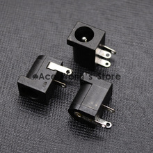 10Pcs DC-005 Black DC Power Jack Socket Connector DC005 5.5*2.1mm 2.1 socket Round the needle