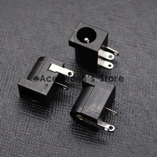 10Pcs DC-005 Black DC Power Jack Socket Connector DC005 5.5*2.1mm 2.1 socket Round the needle(China)