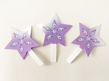 48 PCS Star Cake Toppers Wedding Cupcake Stand baby Girls Birthday Party Decoration Dessert fruit Topper(China)
