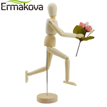 ERMAKOVA 5.5 Inches Tall Wooden Human Mannequin Movable Limbs Human Artist Model Wooden Manikin Drawing Mannequin Model(Unisex)