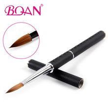 Retail 8# Pure Kolinsky Acrylic brush Sable Painting Nail Art Brush 1 Pc Free shipping(China)