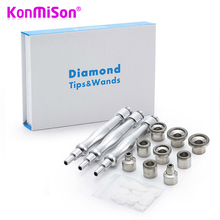 KONMISON 9 Tips + 3 Wands Diamond Dermabrasion Accessory Tips Diamond Wands Cotton Filter Facial Skin Peel Microdermabrasion(China)