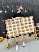 Track Ship+New Arrival US EURO Plus Size M L XL XXL XXXL Fashion Dress Emoji Faces Face Cute Yellow Smile Sob Make Faces 1037(Hong Kong,China)