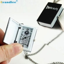 1PC New Unique Death Note Bronze Necklace Chain Pocket Watch Necklace Chain Gift square box watch