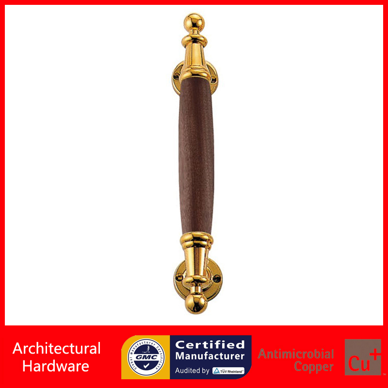 Entrance Door Handle Solid Wood Pull Handles PA-376B-L300mm For Entry/Front Wooden Doors<br>