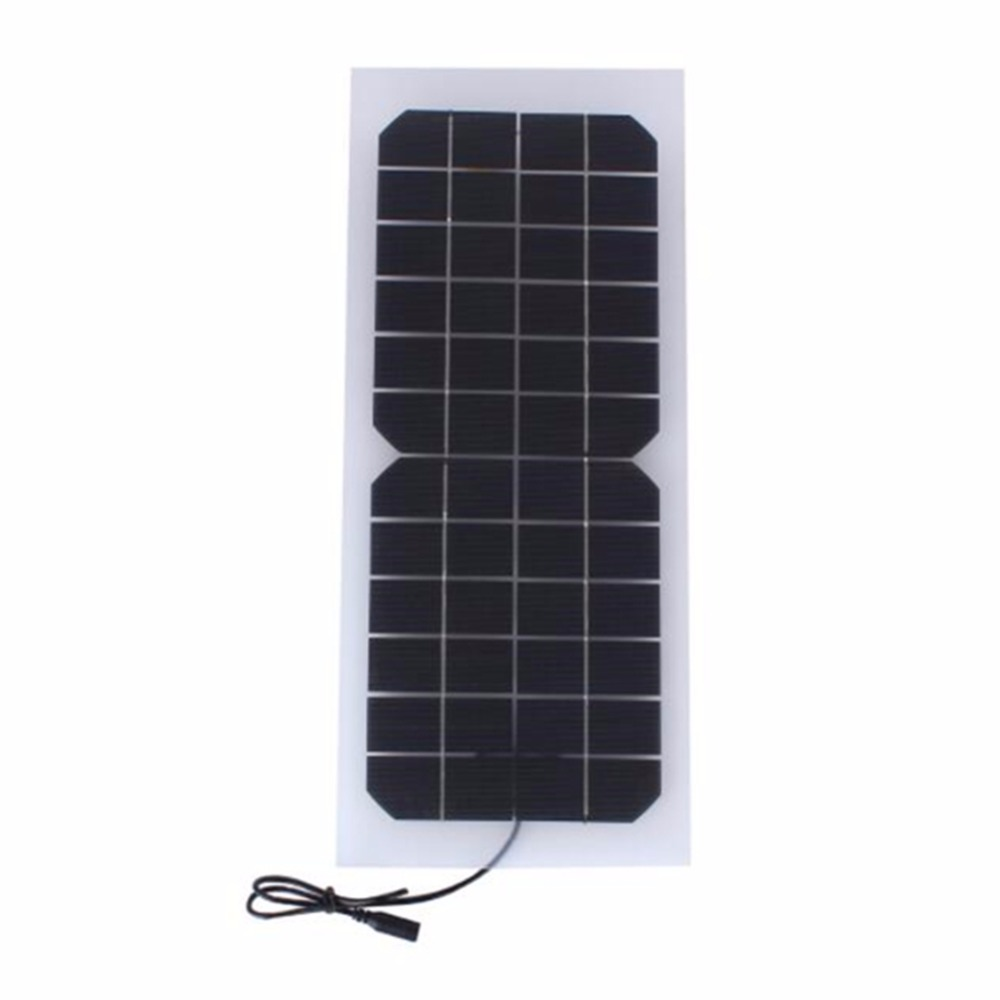 Semi-flexible Transparent10W 12V Solar Cell Panel with Output Size 440*190mm Mini Solar panel for DIY Solar System(China)