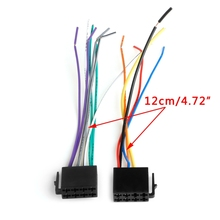 Universal Female ISO Wiring Harness Car Radio Adaptor Connector Wire Plug Kit Auto Car Stereo System Car Electronics Accessorie(China)
