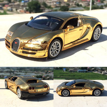 Amazing 1:32 Alloy Car model for Bugatti Veyron Simulation Car Models Pull Back Diecast Car Children Toys Car collections