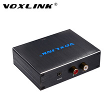 VOXLINK Full HD 1080P Coaxial Toslink Digital to Analog Audio Converter Adapter RCA L/R For DVD PS3 TV Plug and Play