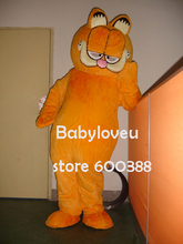 High quality Adult size Cartoon  Mascot Costume Bubble Garfield cat mascot cosplay halloween costume christmas Crazy Sale