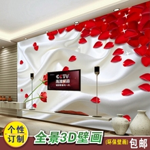 New custom 3d large fresco abstract rose flower bedroom living room sofa wedding room wallpapers wall paper TV back wall coating(China)