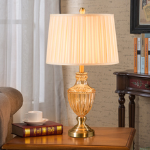 Luxury Modern Bedroom Table Lamp Crystal Glass Living Room Decoration Abajur Table lamp For Bedroom Lamparas De Mesa