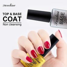 Saroline Top Nail Gel UV Top Coat Base Coat Foundation for UV Gel Polish 8ML 30 day long lasting nail art cheap gel