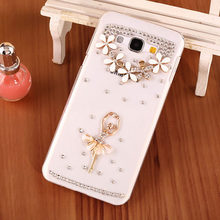 Luxury Bling Ballet Girl Cell Phone Case For Samsung Galaxy J3 Pro,New Diamond Style Mobile Phone Case Shell For Samsung J3 2016