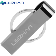 LEIZHAN USB Flash Drive 2.0 Waterproof Metal USB Stick 4GB 8GB 16GB 32GB 64GB Memory Pendrive USB Flash Disk Pen Drive U Disk(China)