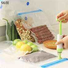 5pcs Newly Vacuum Food Saver Storage Sealer Set Bags Reusable Packaging Household Compression Sealed Bag LNY9004(China)