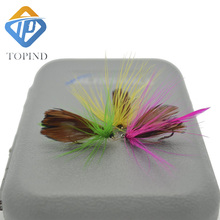 3pack Boxed fly fishing lure like Butterfly set Artificial bait trout TOPIND fly fishing lures hooks tackle with box Butterfly I(China)