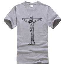 JESUS T Shirts Men Novelty Personality Tshirts Christian Catholic God T-shirts Summer Short Sleeve Tees #039