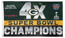 Green Bay Packers 4 Time Super Bowl Champi flag3x5FT NFL banner150X90CM 100D Polyester brass grommets custom flag, Free Shipping(China)