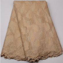 Big African Swiss Voile Lace High Quality Eyelet Cotton Swiss Lace Material Latest African Swiss Lace Fabric  NA530B-7