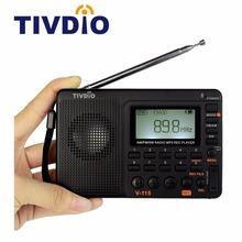 TIVDIO V-115 Radio AM FM SW Pocket Radio Receiver Shortwave Transistor MP3 Player TF Card USB REC Recorder FM Tuner Work F9205A(China)