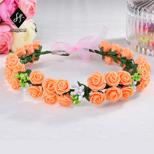 Women Cute Headbands With Cloth Barberton Daisy Outdoor outing Flowers Hairband More Colors Handbands flower girl crowns YL143