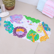 Cartoon Anti-Slip PVC Bath Mat With Suction Cups animal Fish Carpet Used For Bathroom