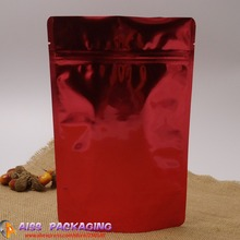 AISS-Bag with zipper,Red color stand up bags,15x23cm,packaging of coffee,food saver bags,tea container