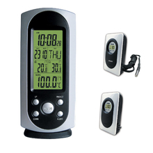 Fashion Weather Station Wireless Indoor Outdoor Temperature Meter Sensor Digital LCD Electronic Sauna Thermometer with Backlight(China)