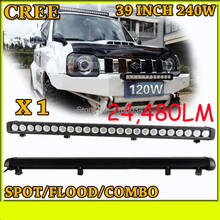 Free UPS ship!1pcs/set,39inch 240W 24480LM,10~30V,6500K,LED working bar,Boat,Bridge,Truck,SUV Offroad car,black!20W 40W 80W