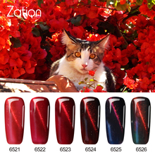 Zation 3D Metallic Red Cat Eye UV Gel Nail Polish Art 7ml Long Lasting Gel Varnish Soak of LED UV Lamp Nail Gel Polish(China)