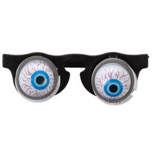 HOT SALE Halloween Carnival Party Plastic Joke Horror Shock Pop Eyes Glasses Toy(China)