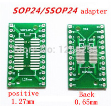 Free shipping 50pcs/lot SOP24 SSOP24 TSSOP24 SOP TO DIP 0.65/1.27mm IC adapter Socket / Adapter plate / PCB in stock