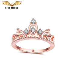 2017 Taobao selling retro crown ring micro-chrome alloy plating ring ladies headdress manufacturers custom wholesale