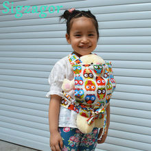 [Sigzagor] Baby Doll Carrier Mei Tai Sling Toy For Kids Children Toddler Gift Front Back,Owl Dot Flower Car, 15 Choices