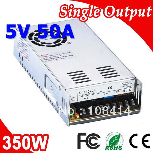 S-350-5 Meanwell Single Output 350W Power Supply 5V Adapter AC to DC<br>