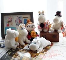 New Japanese anime Moomin Cartoon Stuffed  Lovely dolls  moomin river messenger plush doll keychain bag pendant