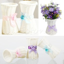 Home Decoration Vase 1Pc Artificial Rattan Vase Flower Fruit Candy Storage Basket Garden Party Decor Warm's house