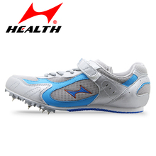 Health 100-800 meter sprint for men spike  breathable mesh You man running shoes spikes athletic training shoes free shipping