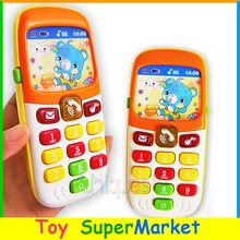 Free Ship Kid Toy Phone Cellphone Mobile Phone Early Education Learning Toy Machine Music Electronic Phone Model Infant Toy Gift(China)