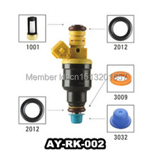 AY-RK002 40pieces/bag fuel injector repair kit  filter pintle cap viton orings Fit for Ford car replacement  (AY-RK002)