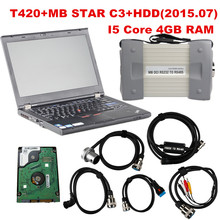Latest 2015.07 Top Rated Mercedes Tester MB Star C3 full set with 4GB I5 T420  Laptop installed well DAS +Xentry + WIS + EPC+Sd